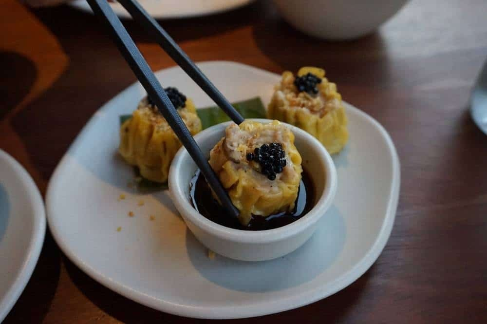 Prawn and pork dumplings from Patara