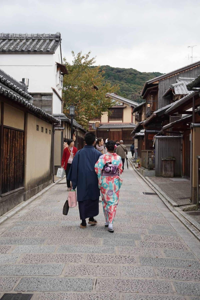A couple in Kyoto