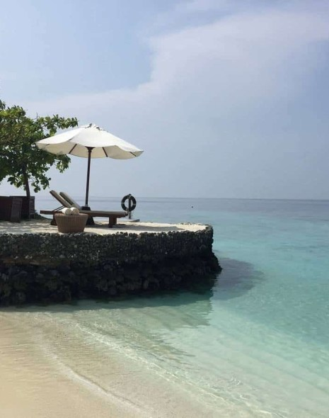 Romantic beach spot at Huvafen Fushi