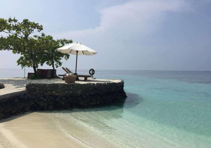 Romantic beach spot at Huvafen Fushi