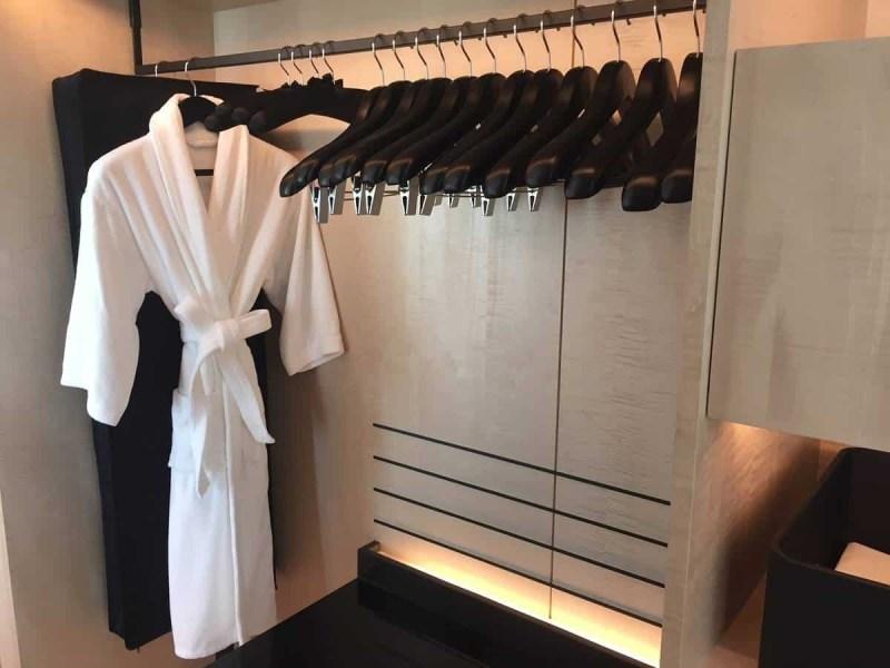 Walk in wardrobe at Park Hyatt Bangkok