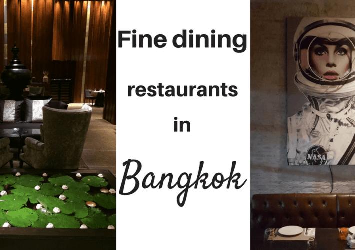Fine dining restaurants in Bangkok