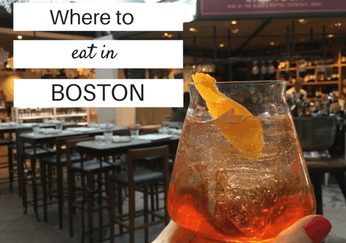 Restaurant suggestions for where to eat in Boston