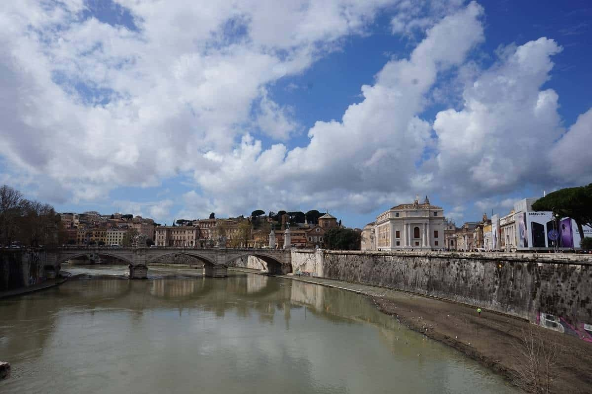 View from Castel Sant' Angelo bridge