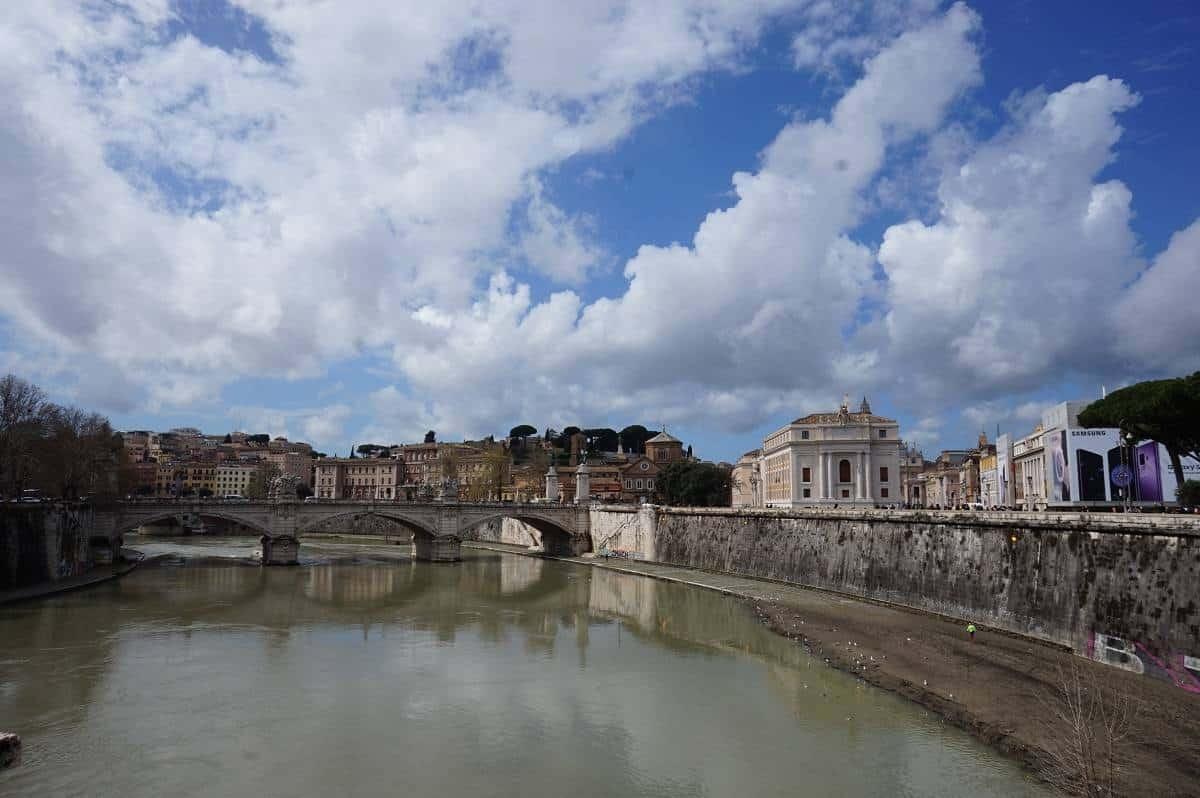 View from Castel Sant' Angelo bridge