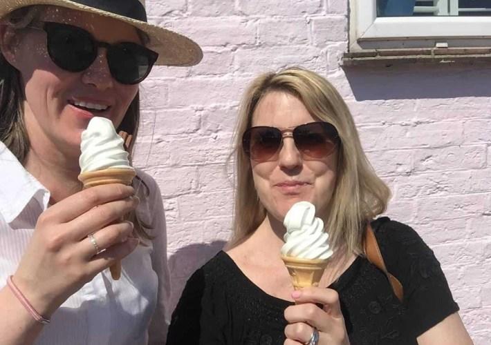 Eating ice-cream in Emsworth