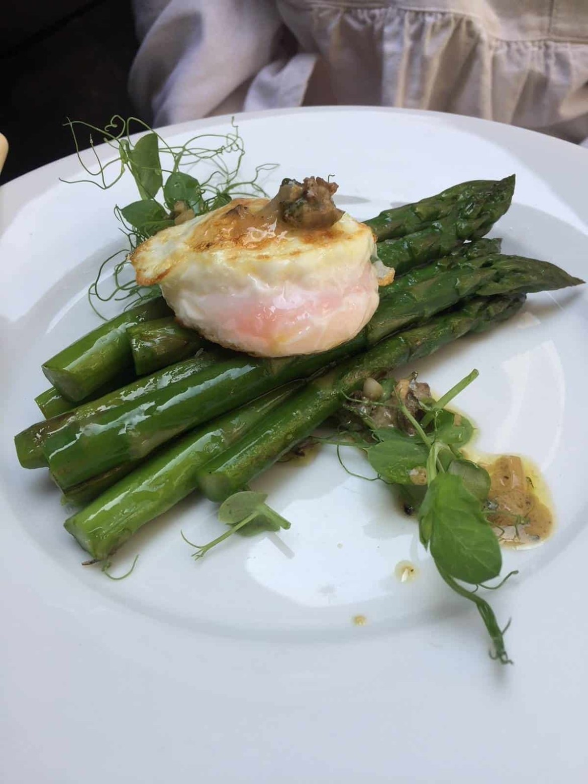 Asparagus and poached egg