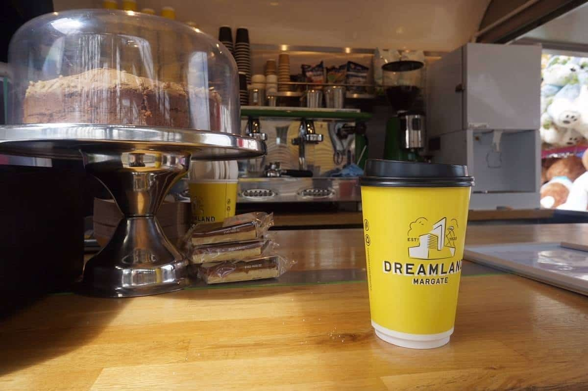 Coffee and cake at Dreamland Margate