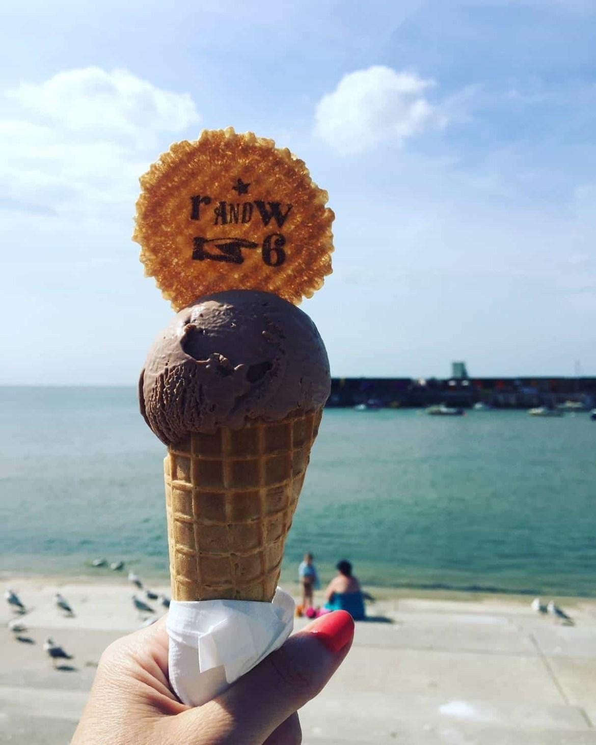 Ice-cream on the beach in Margate