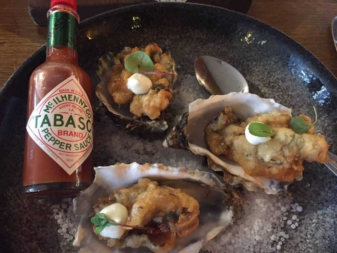 Tempura oysters at Buoy and Oyster Margate