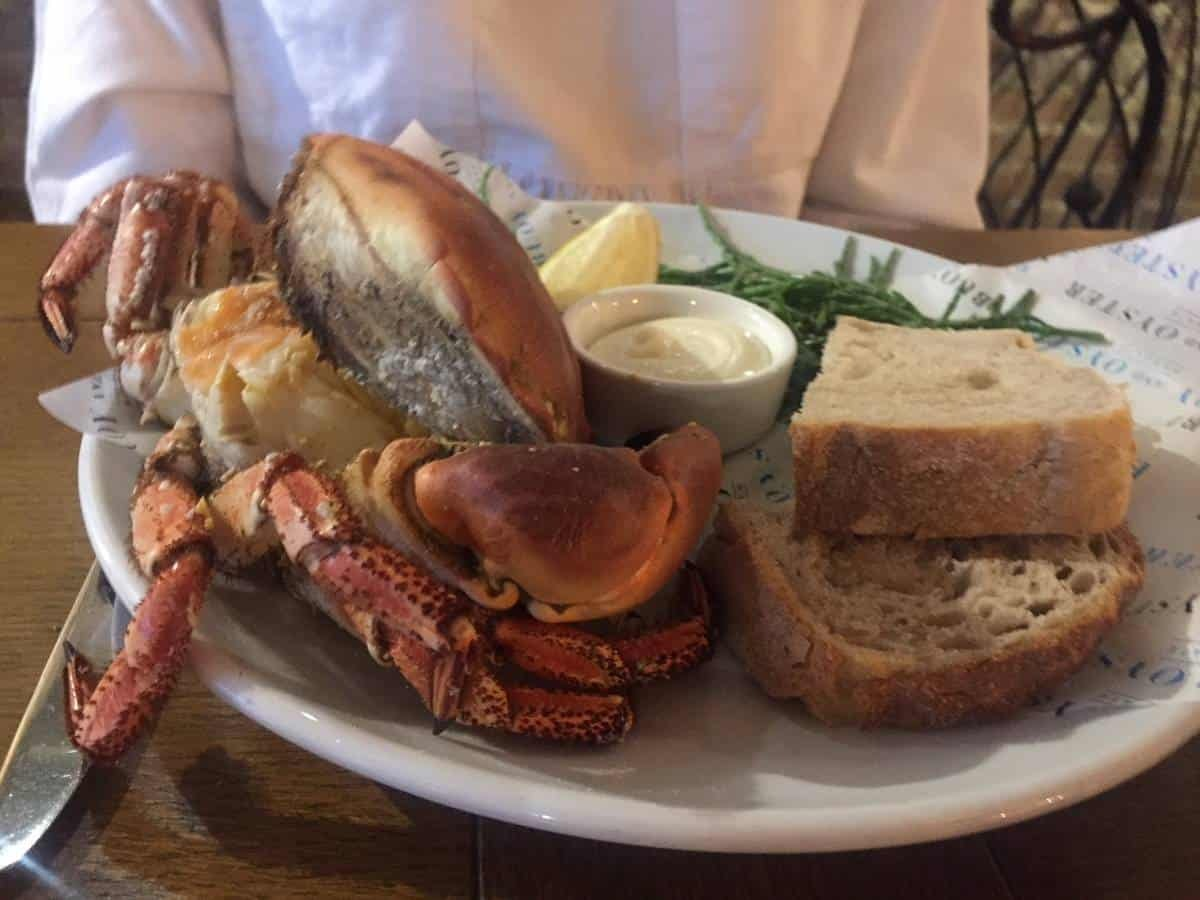 Whole crab at Buoy and Oyster Margate