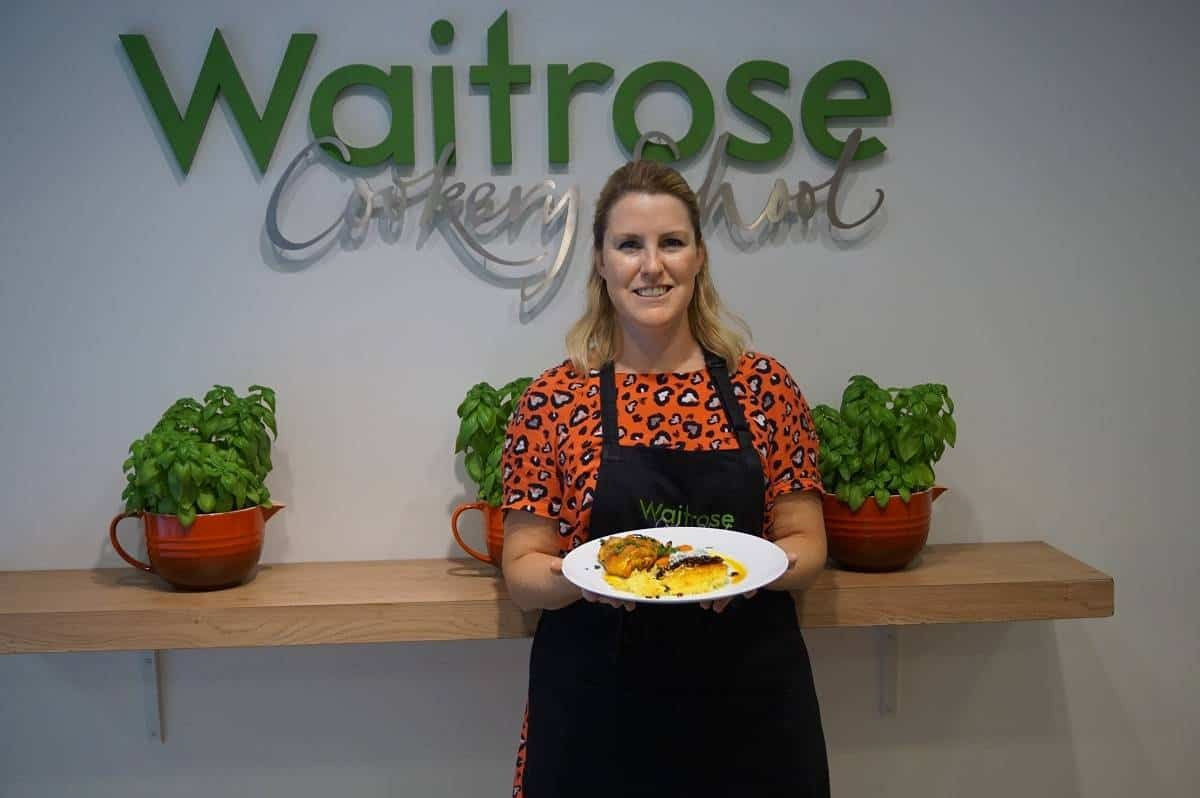 Cooking at Waitrose Cookery School