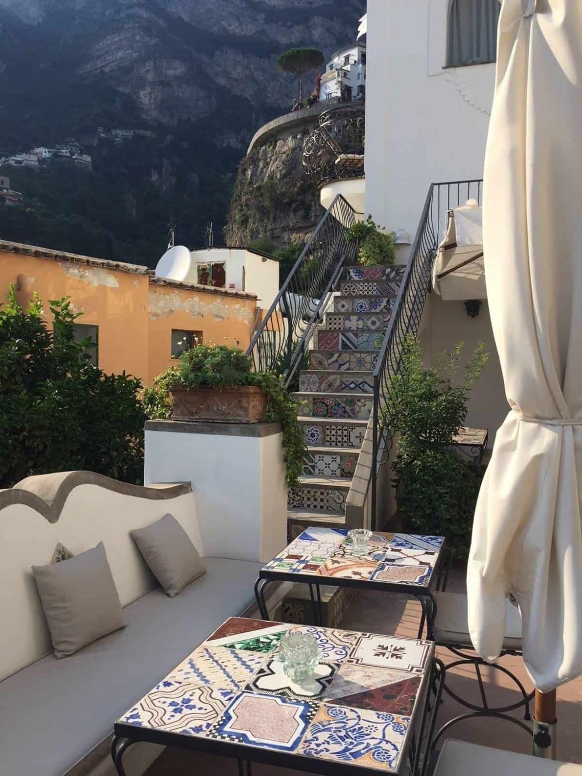 Terrace at Casa Buonocore Positano