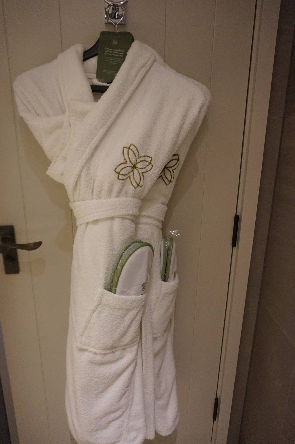 Bath robes and slippers