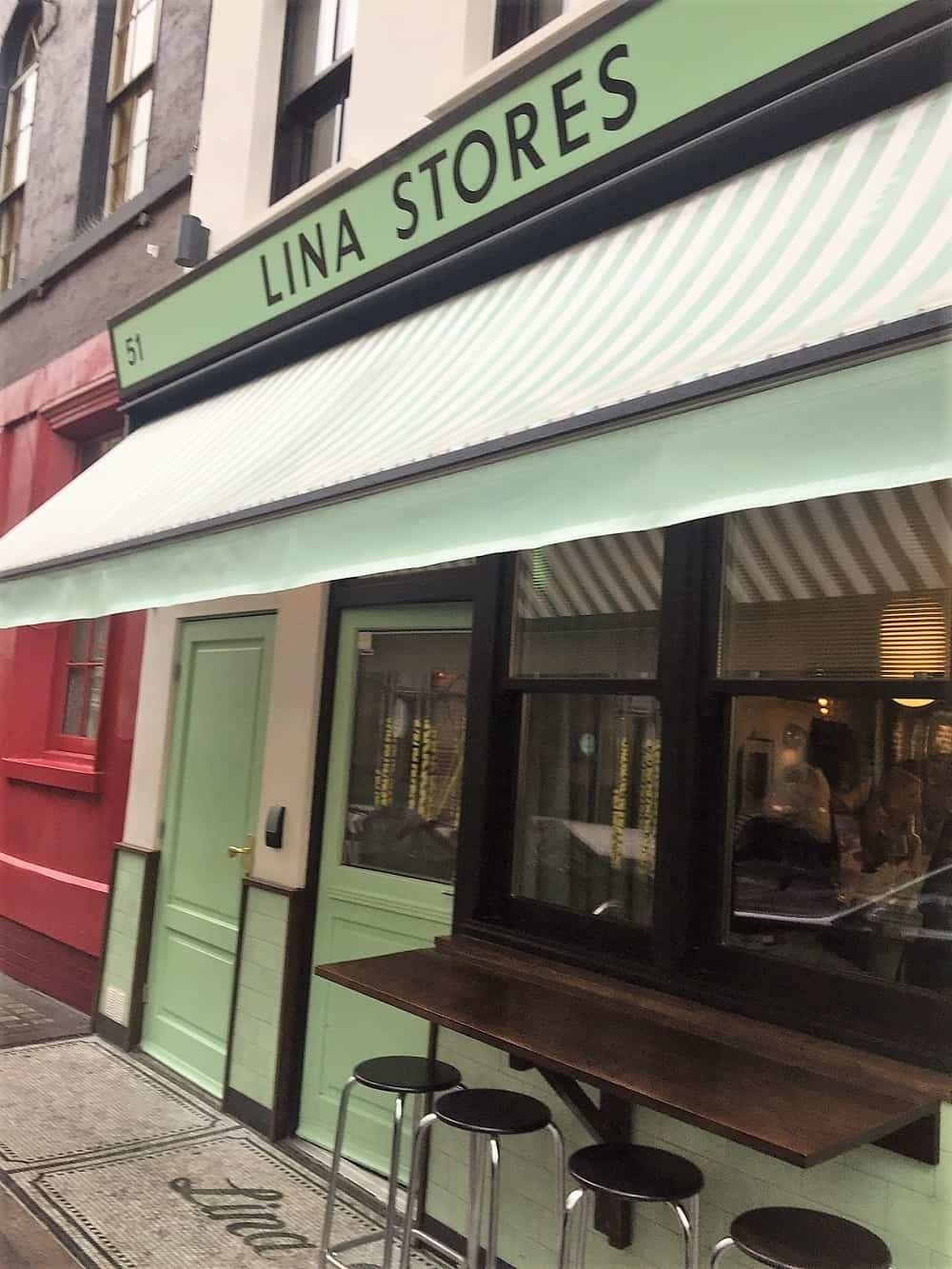 Lina Stores restaurant on Greek Street