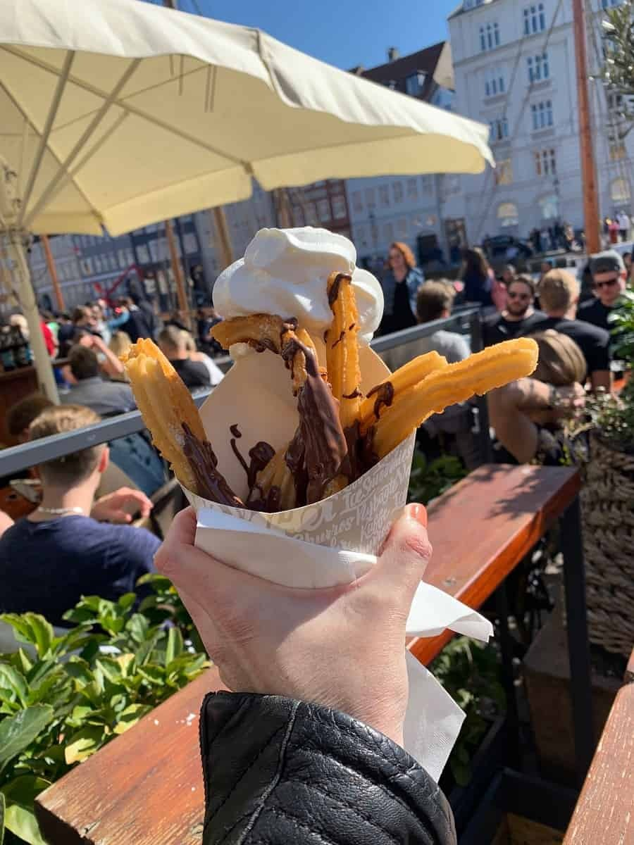 Churros from Rajissimo 3 in Nyhavn