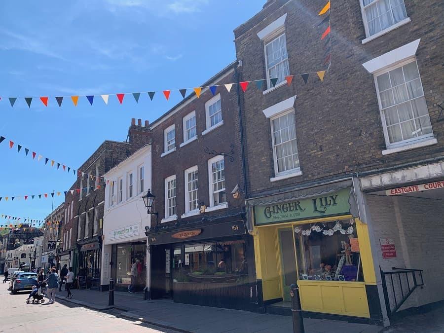 Rochester high street in Kent