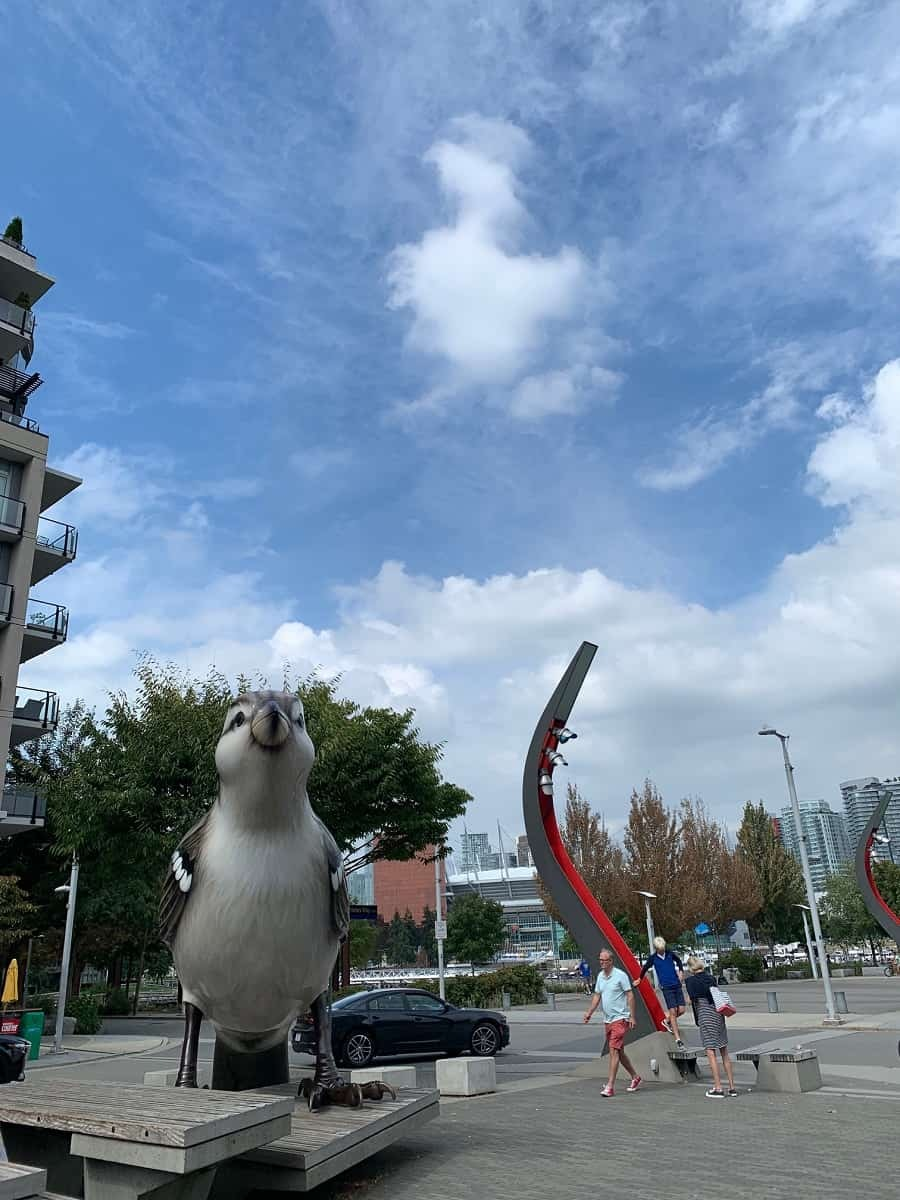 The Birds sculpture in the Olympic Village