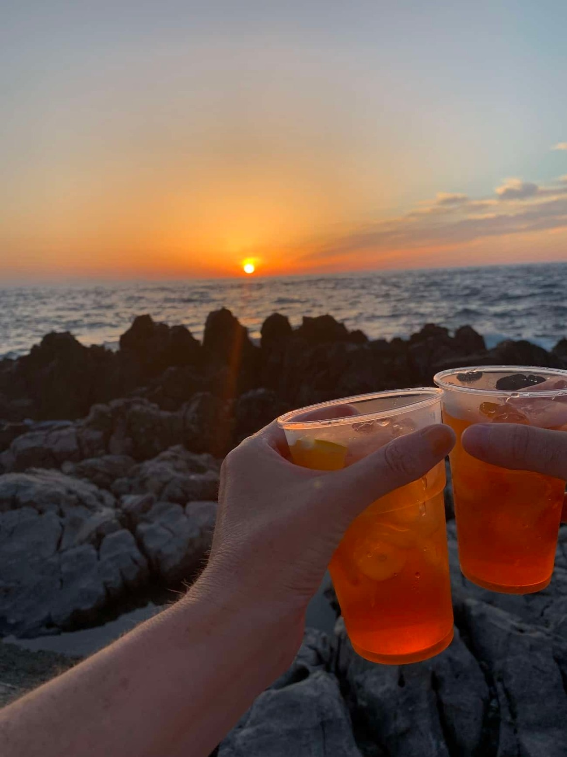 Aperol Spritz in the sunset