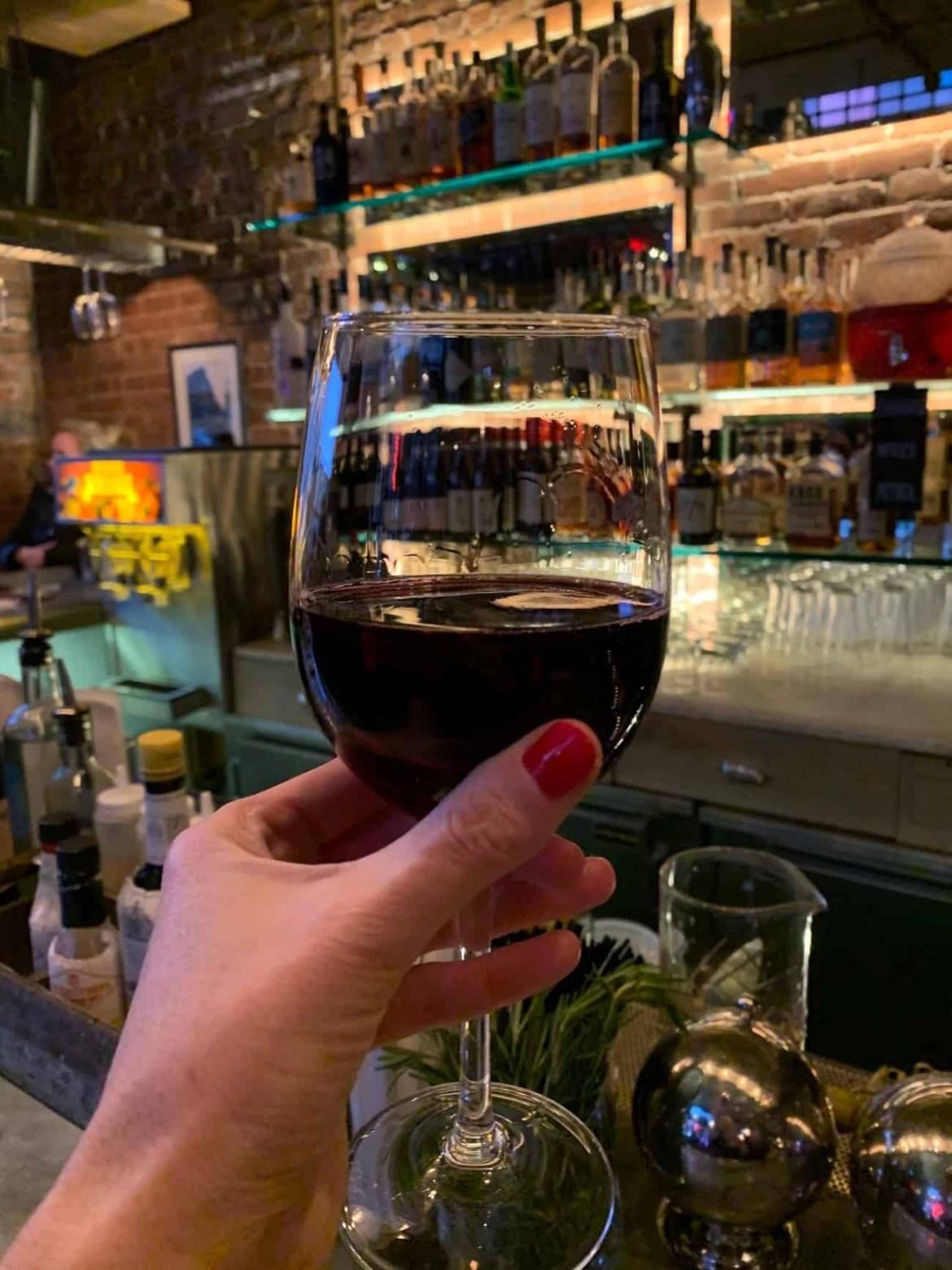 Enjoying a drink in Little Italy