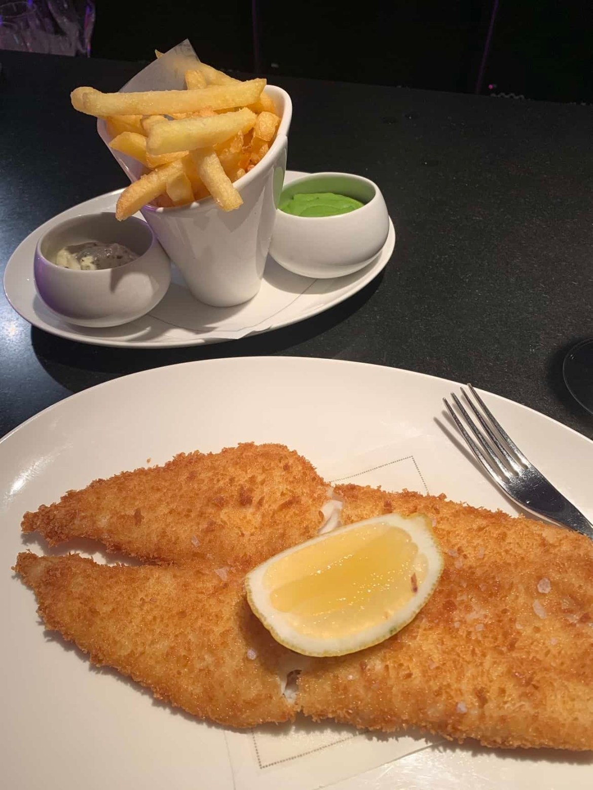 Fish and chips at Ondine in Edinburgh