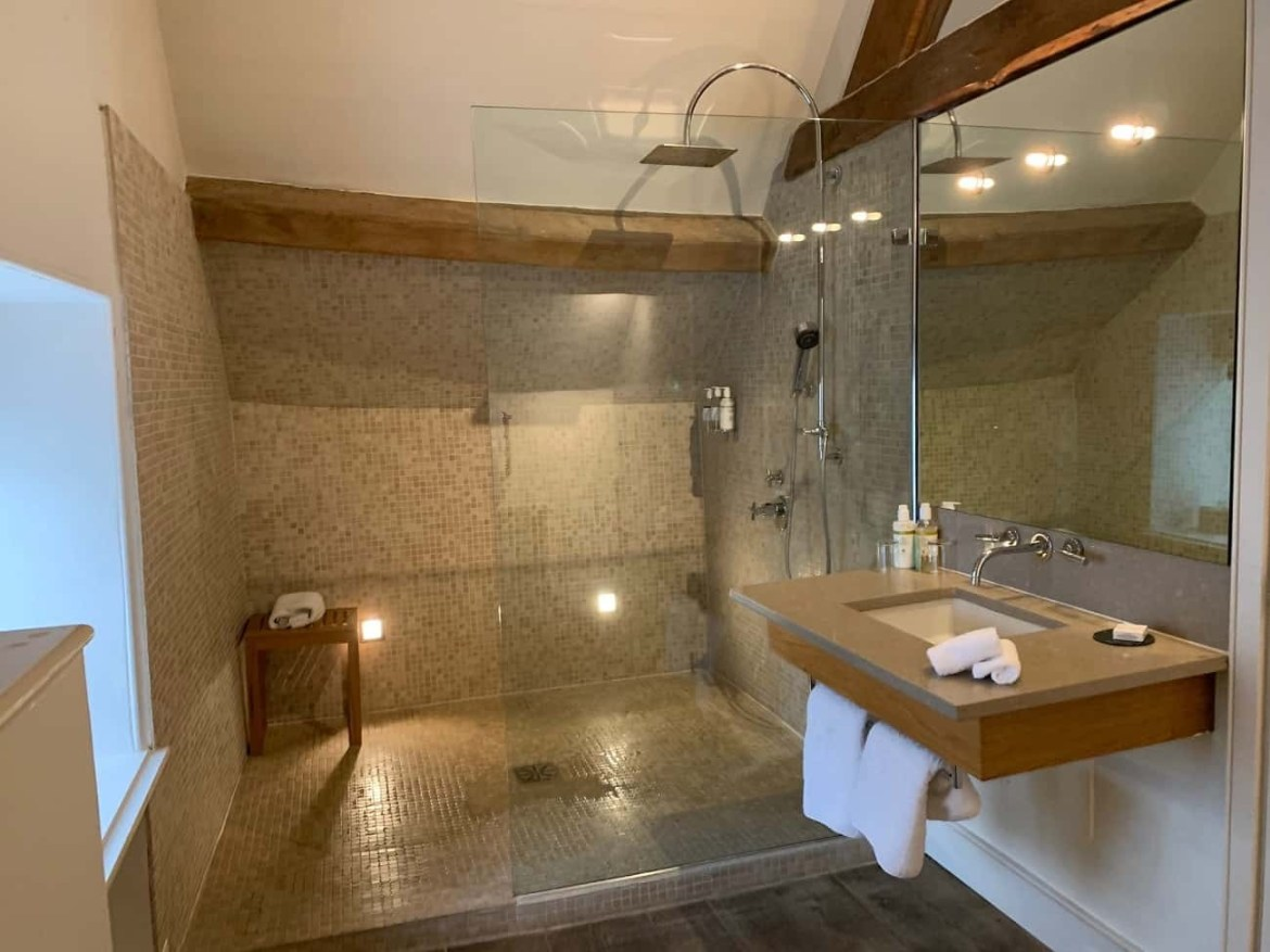 Shower in Davina Suite