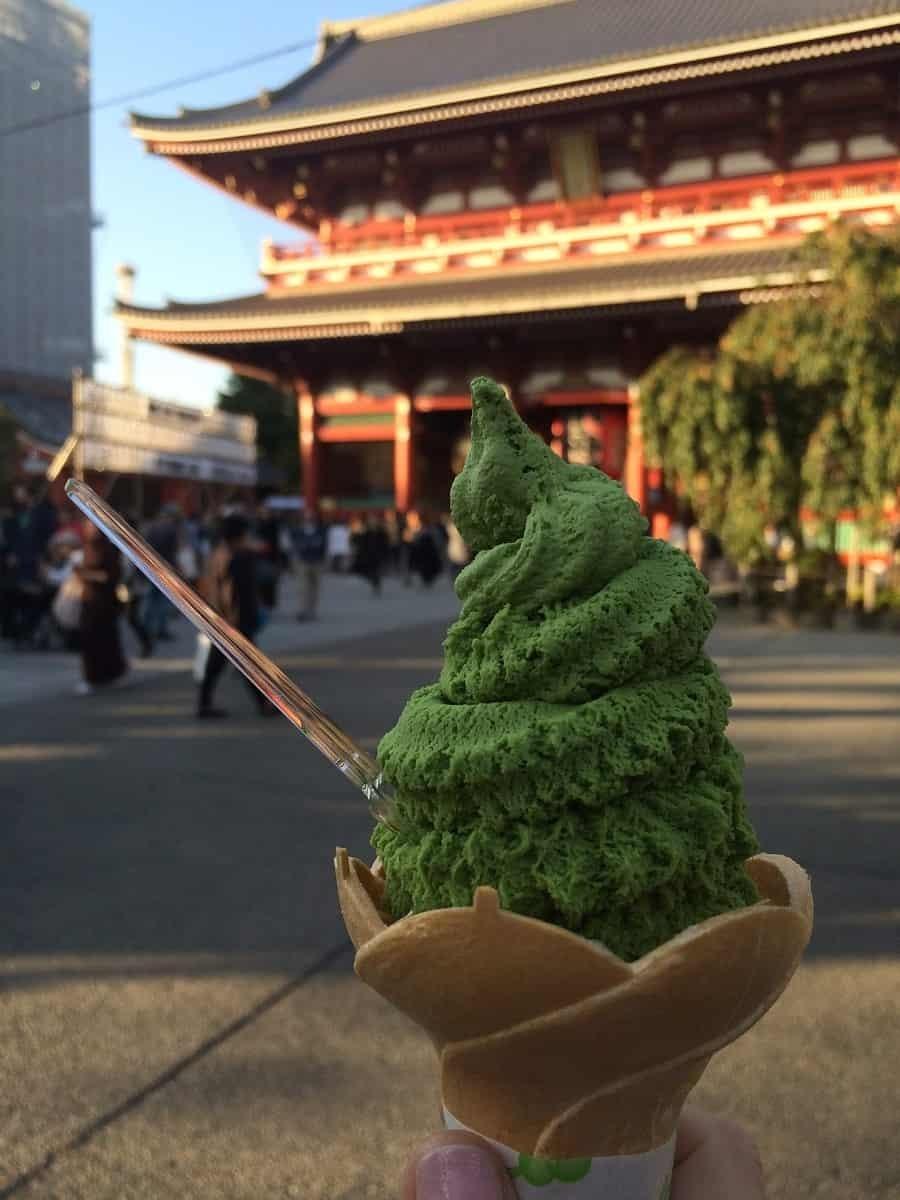 Matcha ice-cream in Tokyo