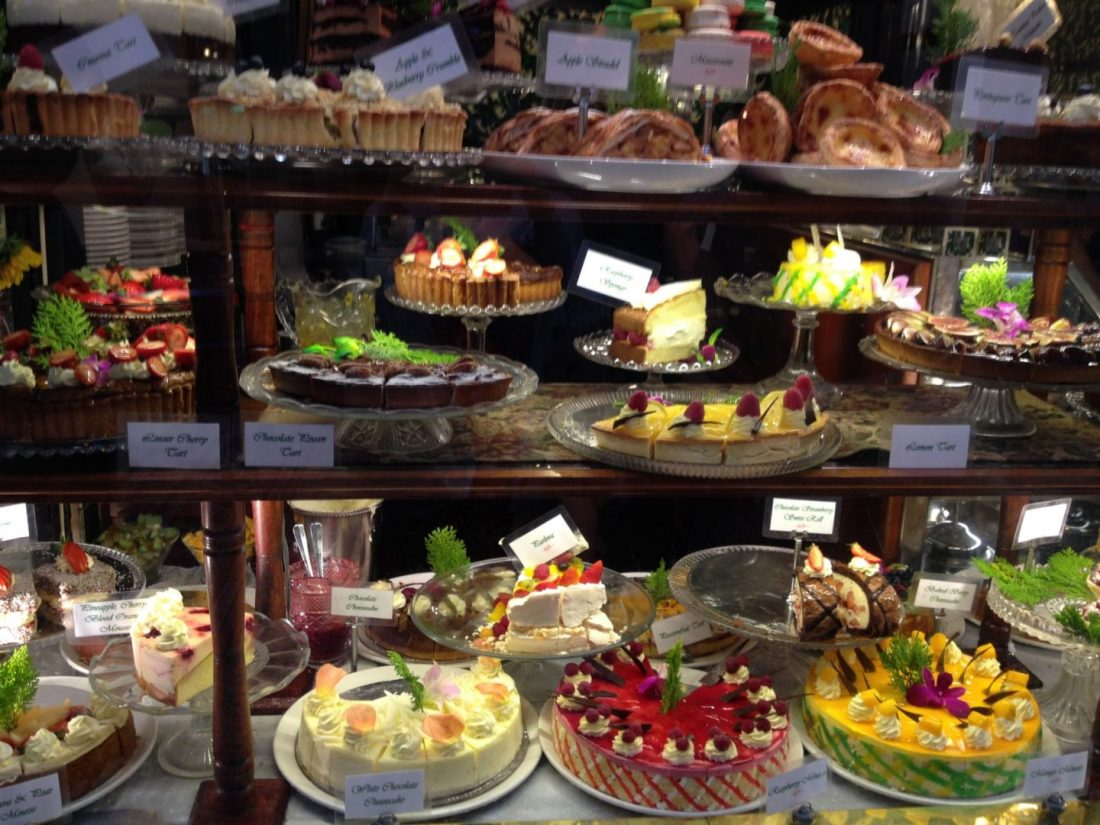 Cakes at Hopetoun Tearooms