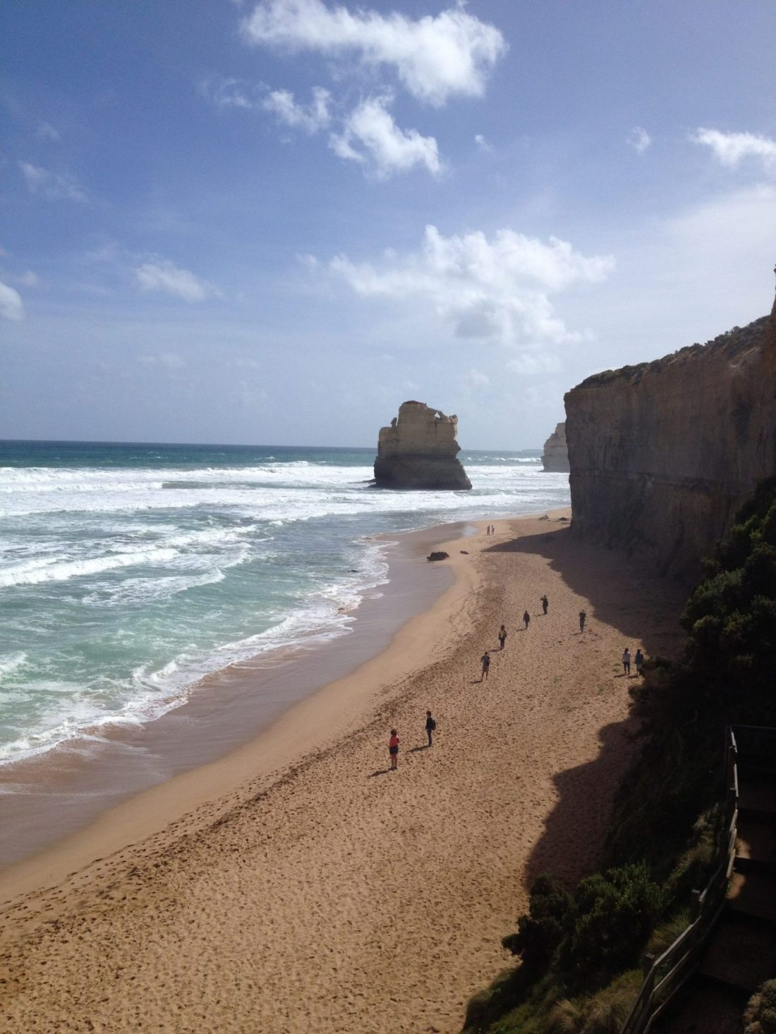 A view of the Twelve Apostles beach