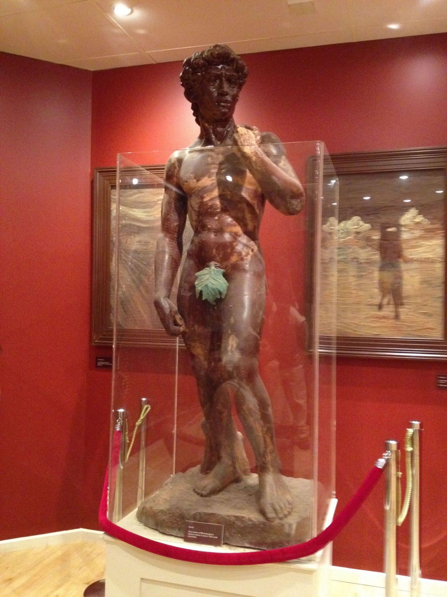 Da Vinci's David made from chocolate