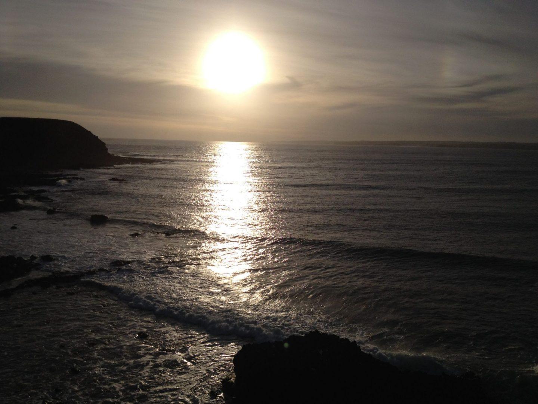 Sun sets on Phillip Island