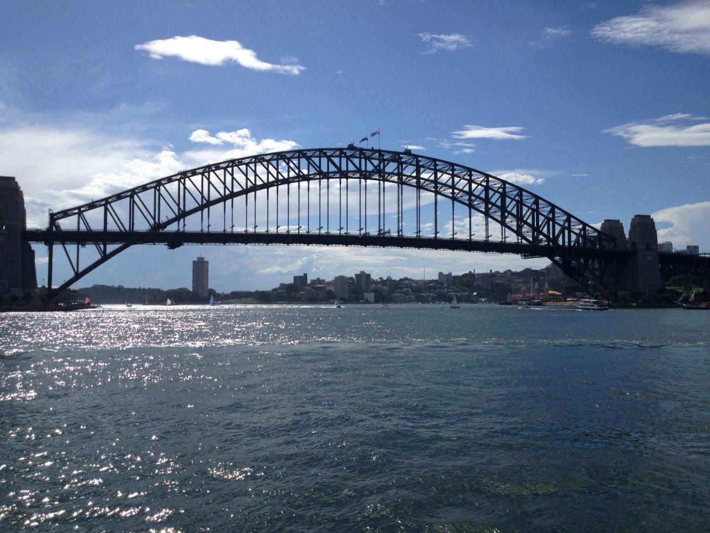 Sydney Harbour Bridge in the summer
