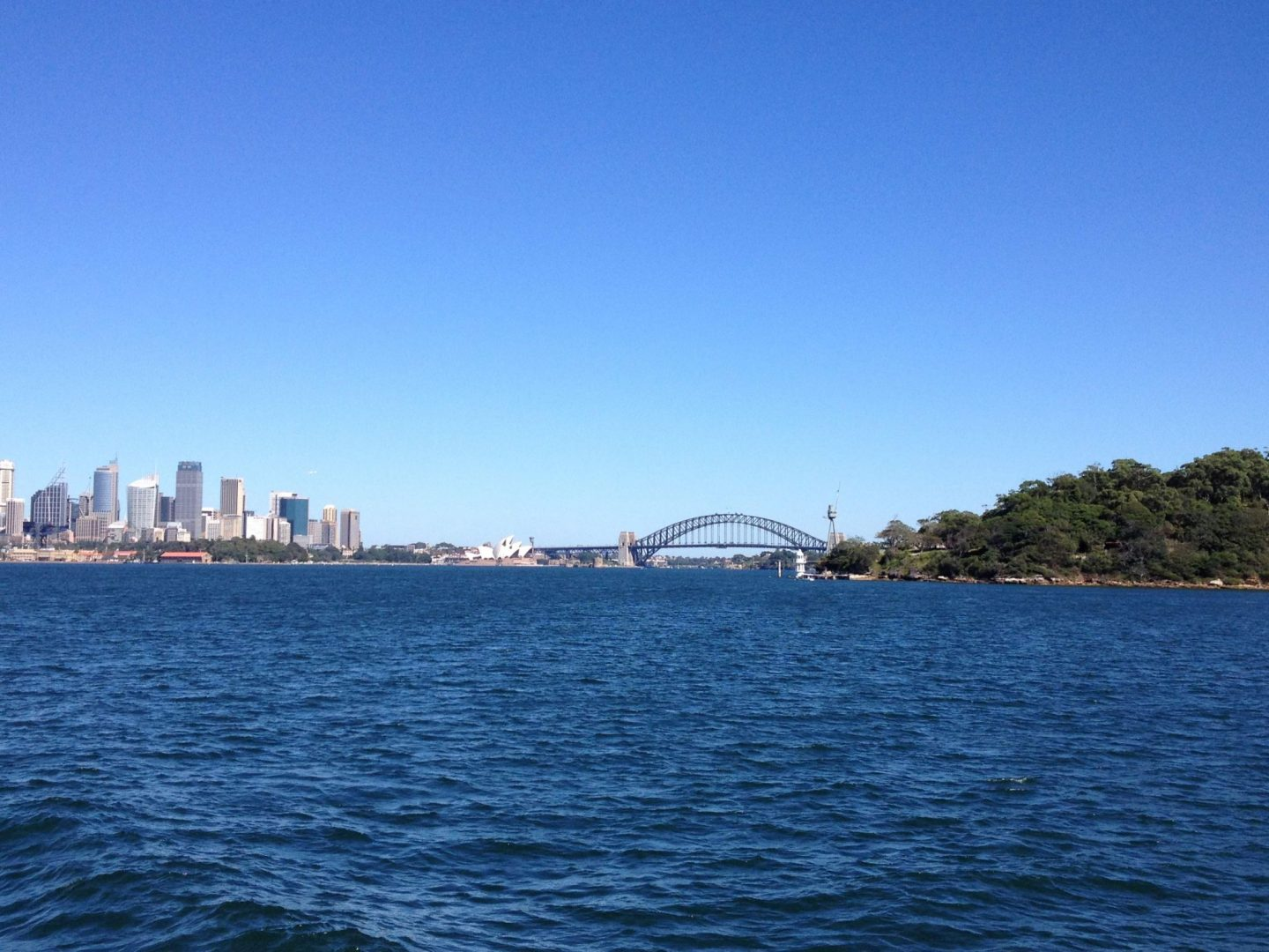 Sydney Harbour Bridge from the ferry