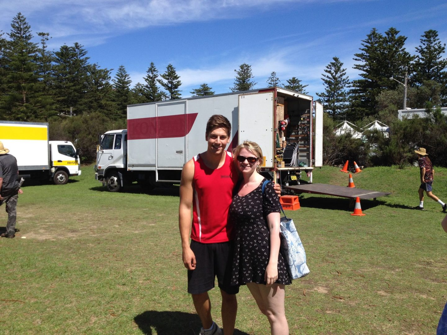 Laura with Casey from Home and Away
