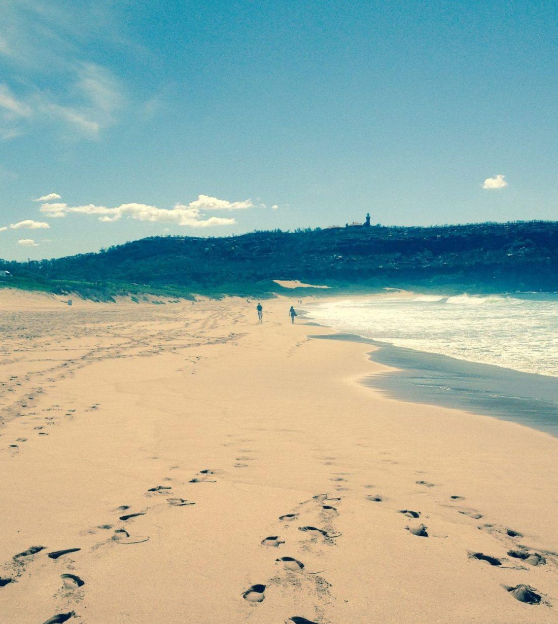Barrenjoey on the beach