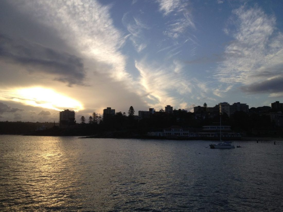 Sunset views from Manly Ferry