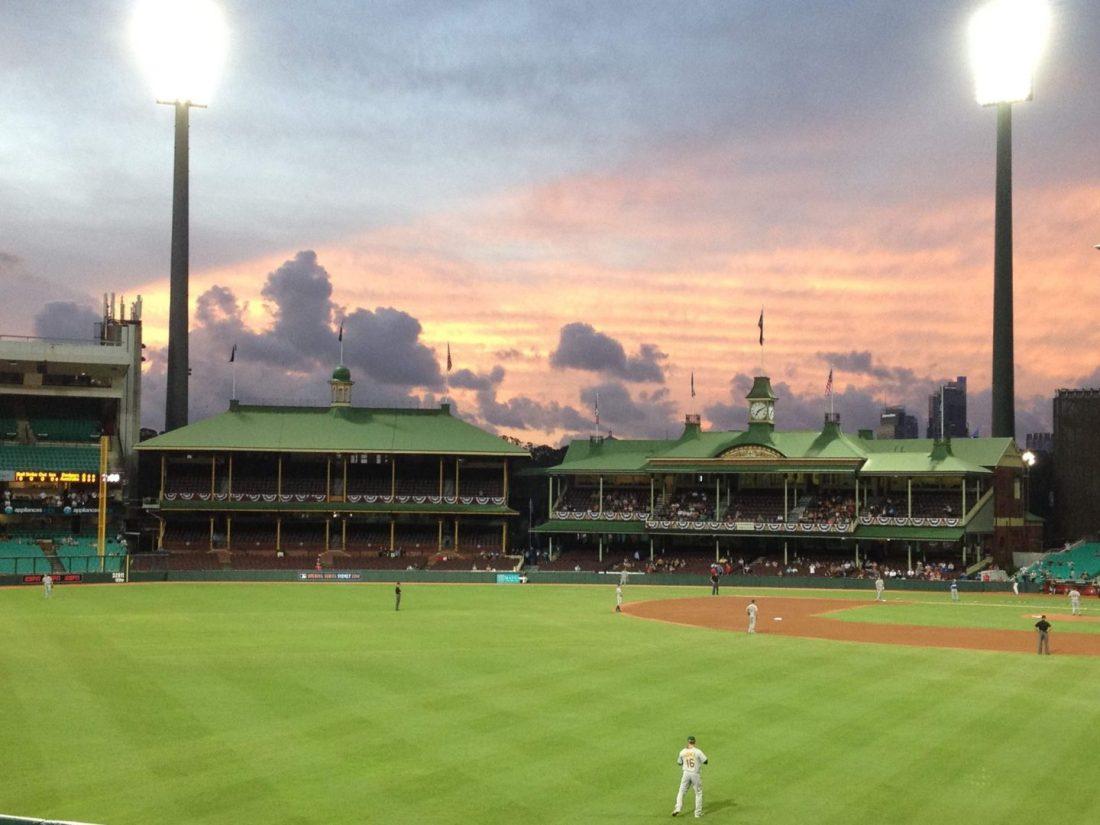 A beautiful sunset over Sydney Cricket Ground