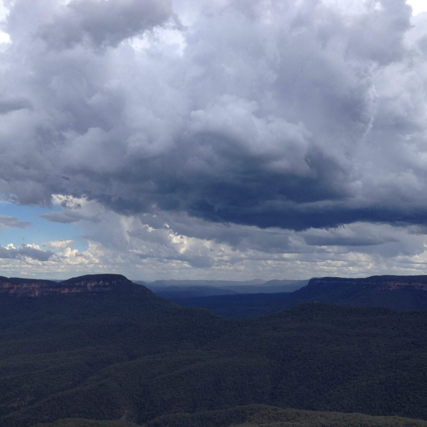 A storm brewing in Katoomba, New South Wales