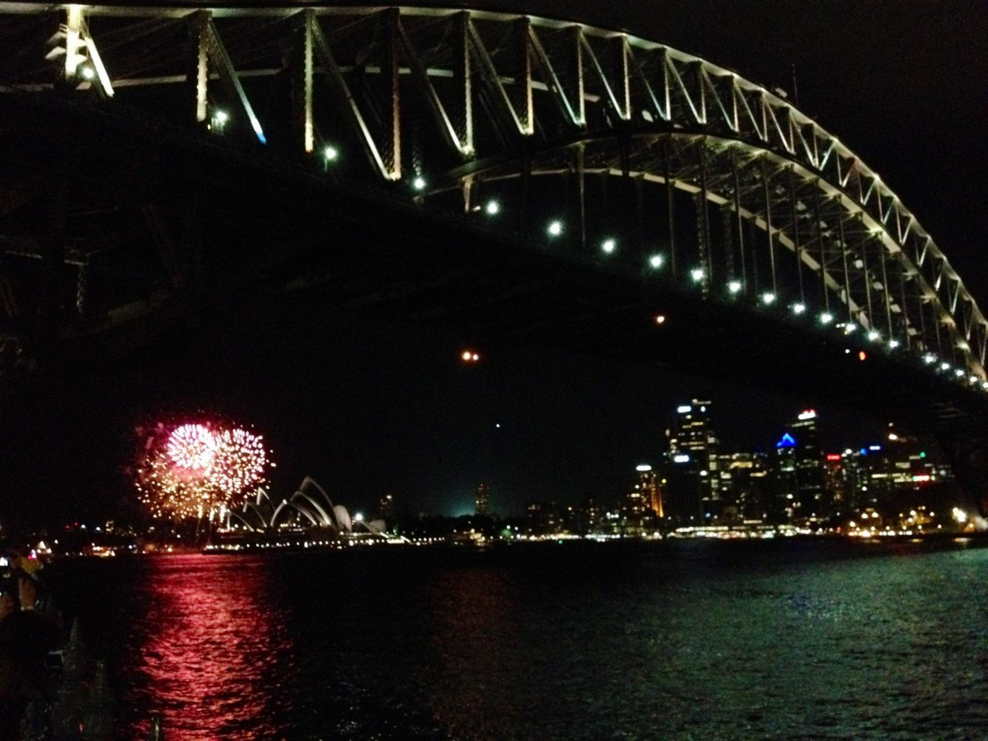 Fireworks at Sydney Harbour Bridge