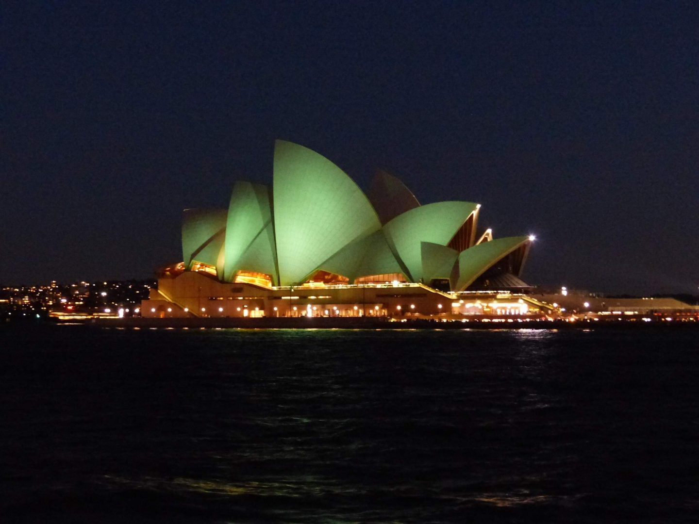 Sydney Opera House on St Patricks Day