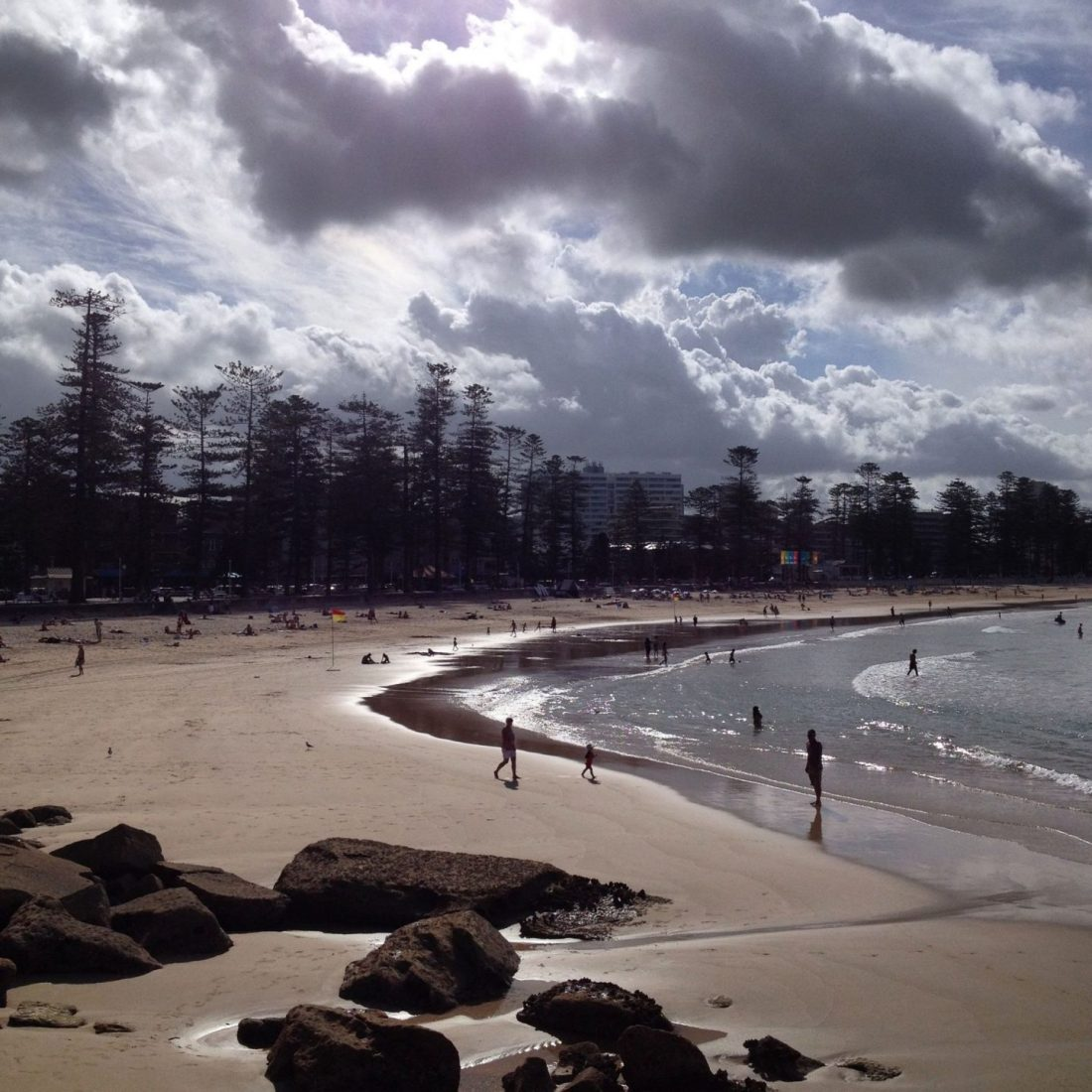 Manly Beach at sunset