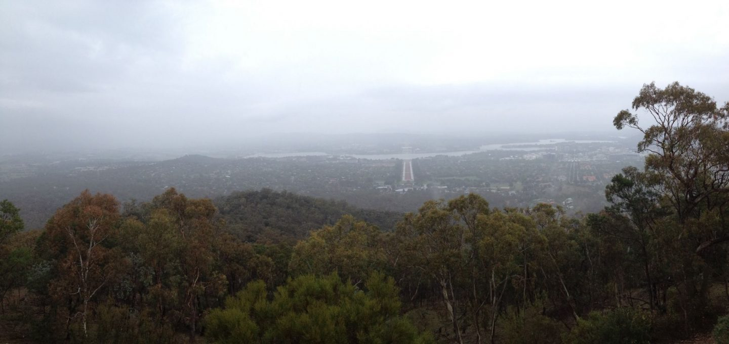 A cloudy day over Canberra, Australia