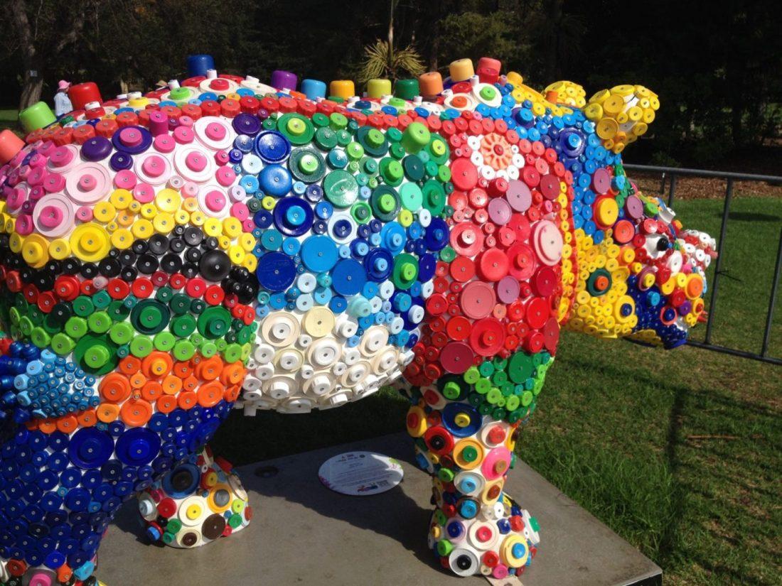 Colourful rhino for Taronga Zoo, Sydney