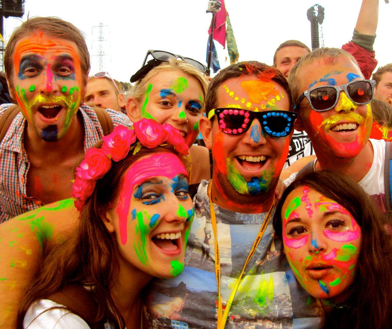 Face paints at Glastonbury Festival