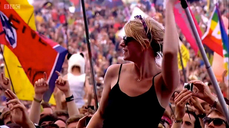 Laura on the BBC at Glastonbury Festival