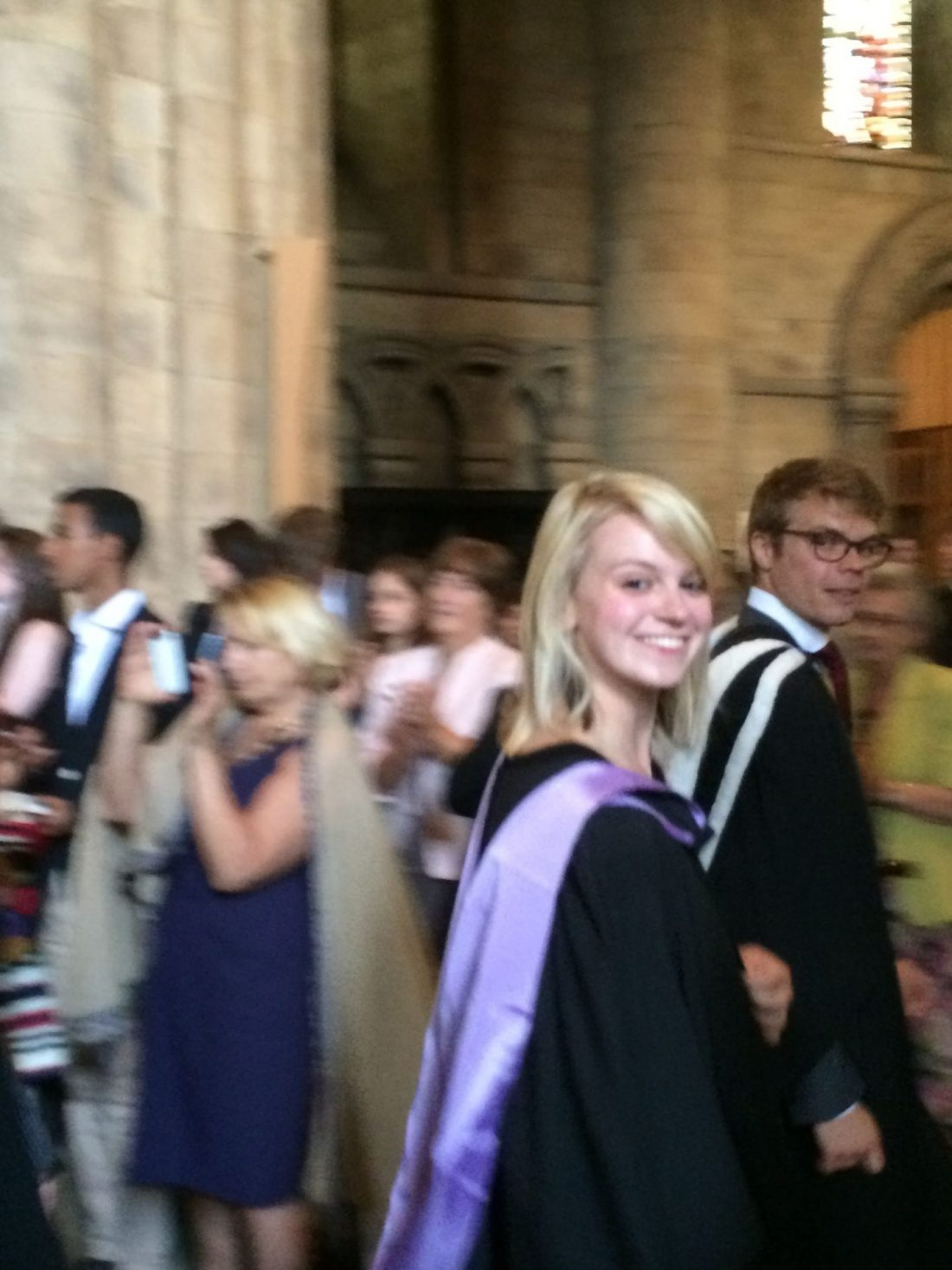 In the graduation congregation