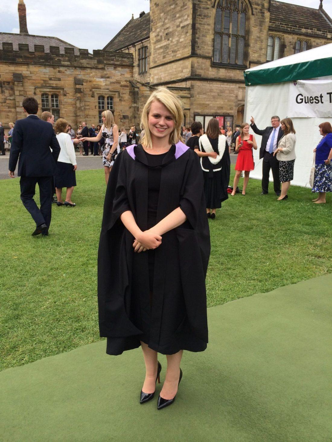 Laura on graduation day