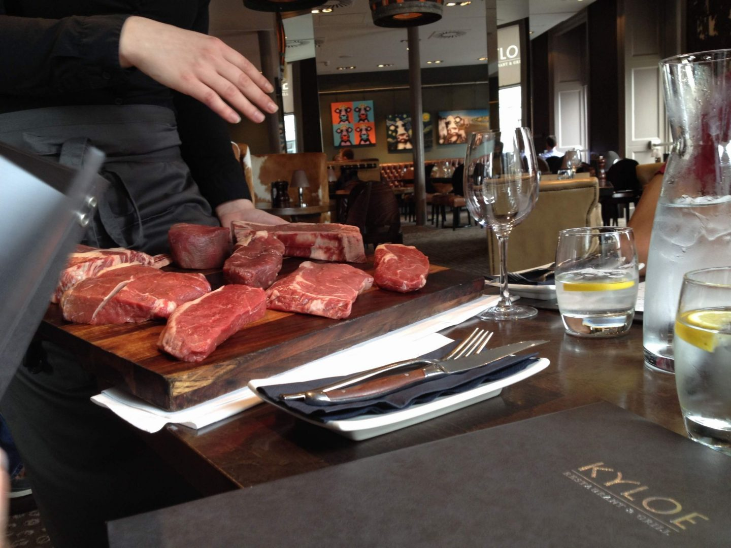 Different steaks on offer at Kyloe