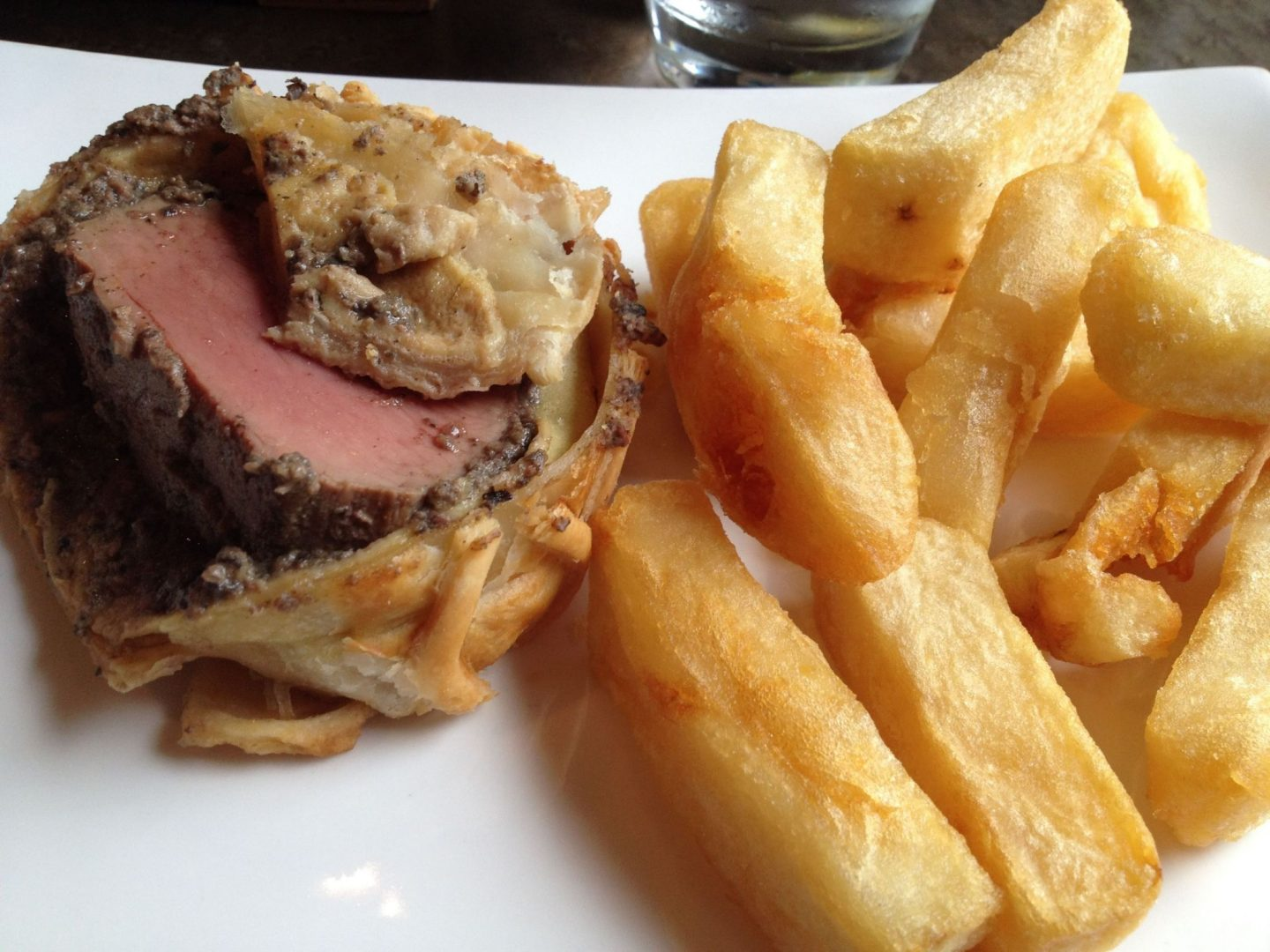Beef Wellington and chips at Kyloe in Edinburgh