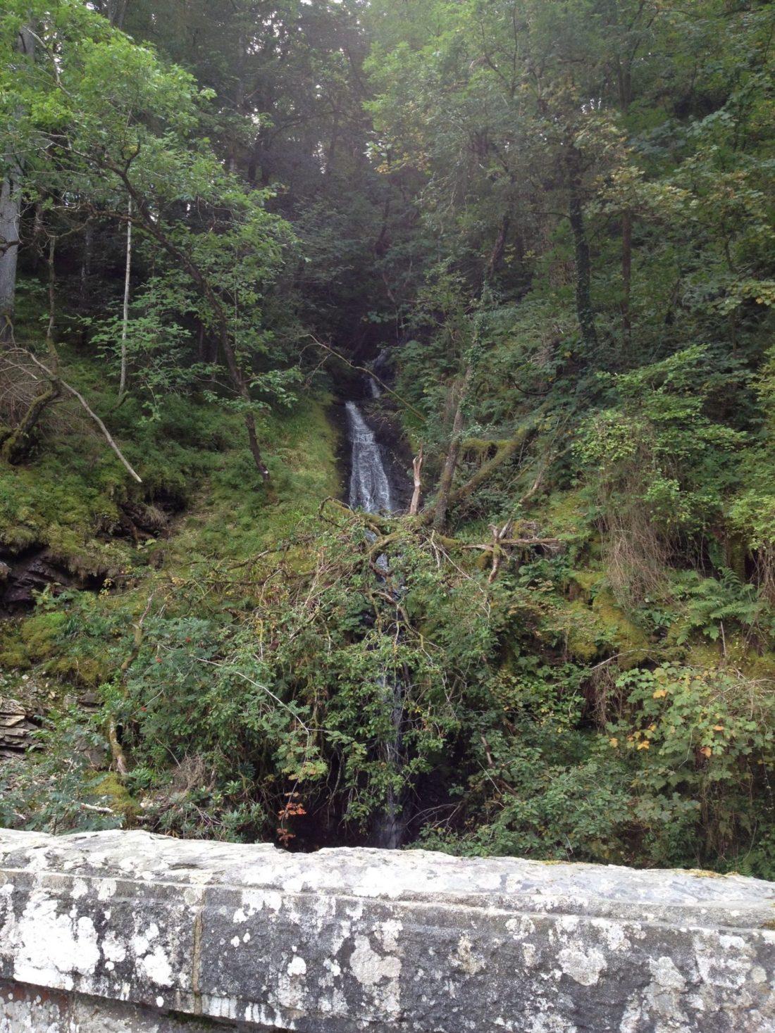 A waterfall at Lake Vyrnwy, Wales